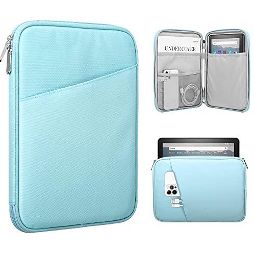 TiMOVO 8-9 Inch Hülle Kompatibel mit iPad Mini 6, iPad Mini 5/4/3/2/1, Galaxy Tab A7 Lite 8.7/Tab A 8.0/Tab A 8.4, Fire HD 8 und 8 Plus 2020 Sleeve Schutzhülle mit Kleiner Tasche, Hellblau