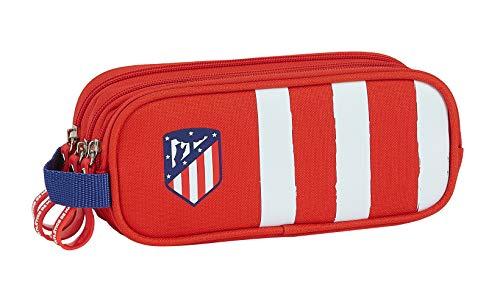 Safta 812058635 Estuche portatodo triple 3 cremalleras escolar Atlético de Madrid