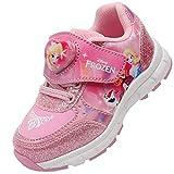[ディズニー] アナと雪の女王 Frozen フローズン エルサ アナ ライトアップ ピンク スニーカー 運動靴 ピカピカ 光る靴 (19.0 cm, エルサ&アナ_ピンク) [並行輸入品]