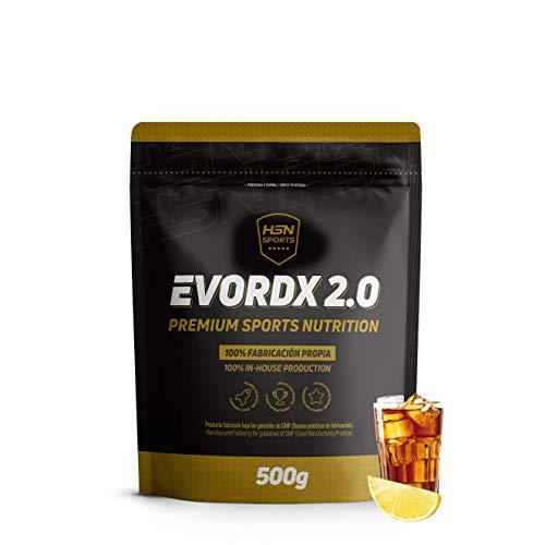 Pre-Entreno Potente Evordx 2.0 de HSN   Pre-Workout con Cafeína, Creatina Creapure, BCAAs, Beta-Alanina, Arginina   Óxido Nítrico   Sin Carbohidratos   Sabor Té Helado Limón, 500g