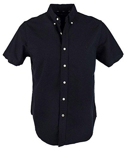 Polo Ralph Lauren Mens Button-Down Collar Short Sleeve Button-Down Shirt Black S