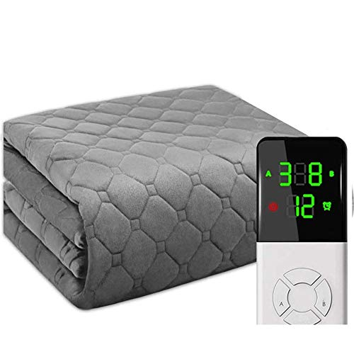 SUYUDD Dapang Electric Heated Throw & Over Blanket - Extra Large, Heated Throw Blanket with Fast-heating Technology with Digital Remote, Timer and 9 Heat Settings
