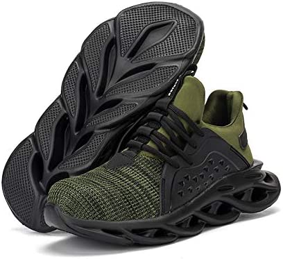 Safety Shoes for Men Safety Work Shoes Non-Slip Safety Shoes for Men Composite Toe Breathable Stab-Resistant Flying Woven Breathable Mesh Safety Shoes