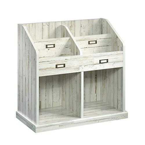"Sauder Barrister Lane Bookcase, L: 30.24"" x W: 14.65"" x H: 28.27"", White Plank"