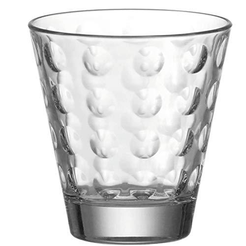 Leonardo Ciao Optic Wasser-Gläser, 6er Set, spülmaschinengeeignete Saft-Gläser, Trink-Becher aus Glas mit Muster, 215 ml, 012683