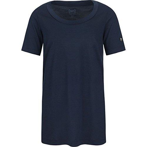 super. Natural W Oversize Thé Femme en Laine mérinos T-Shirt L Navy Blazer