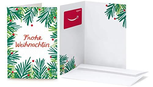 Amazon.de Geschenkkarte in Grußkarte  (Weihnachtliche Zweige)