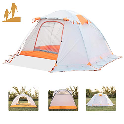 Weanas Backpacking Tent for 2 Person 4 Season Camping Tent with Snow Skirt Double Layer Waterproof Portable Camping Tent for Outdoor Hunting, Hiking, Climbing