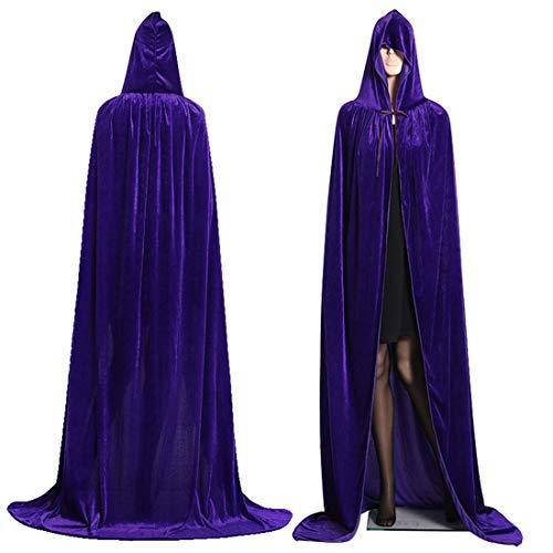 WZYX Capa con Capucha de Halloween Capa de Terciopelo Reversible Forrada con satén Unisex Adulto Halloween Navidad Cosplay Disfraz