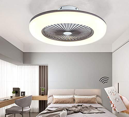 CAGYMJ Ventilador De Techo con Iluminación Ventilador De Techo LED Luz Velocidad del Viento Ajustable Control Remoto,Ultra Silencioso Ventilador Luces De Ventilador De Dormitorio,Marrón