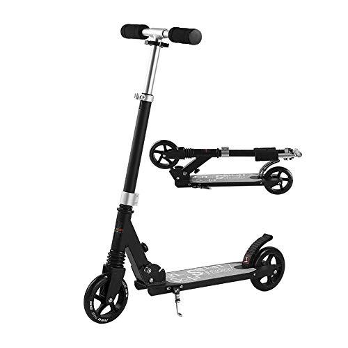 FQCD No eléctricos Ligera Adolescentes Vespa, Altura Ajustable Kick Scooter for los...