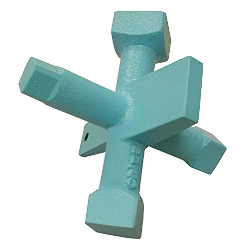 Jones Stephens 6-Way Countersunk Plug Wrench, Blue (J40042)