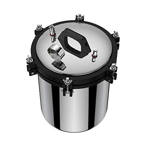18L 220V 2KW Tragbarer stabiler Dampf-Autoklav-Sterilisator, Lab 304 Edelstahl-Druck-Dampfsterilisator mit Dual-Heat-Modus für effiziente und sichere Sterilisation