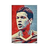 Michael Ballack Fußball Sport Poster Leinwand Poster