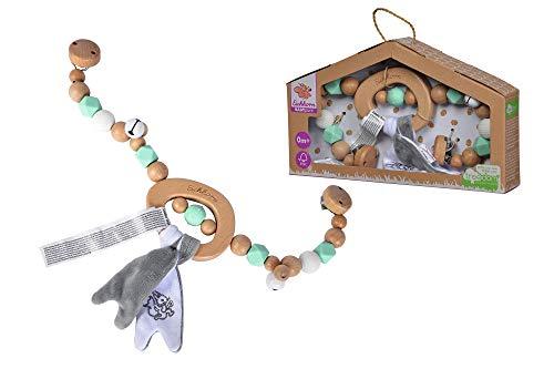 Eichhorn 100005705 Baby Pure Wagenkette mit Glocken und Plüsch aus FSC 100 Prozent zertifiziertem Buchenholz, nachhaltiges Holzspielzeug, für Kinder ab den ersten Lebensmonaten geeignet