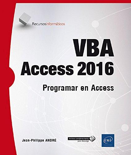 VBA Access 2016. Programar en Access