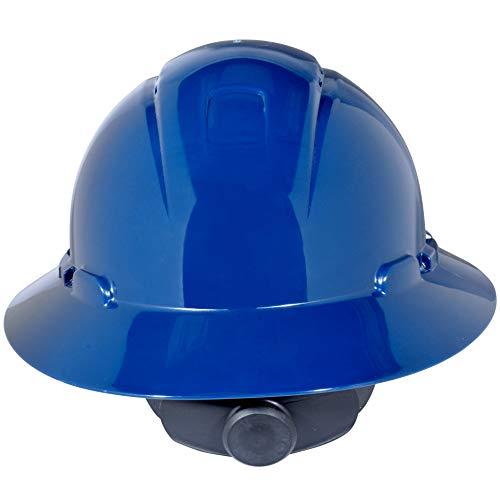3M Full Brim Hard Hat H-810V, Navy Blue 4-Point Ratchet Suspension, Vented