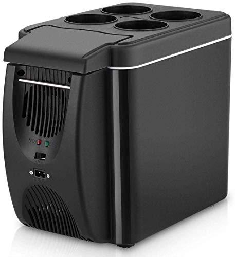FDSZ Refrigerador de Coches Mini refrigerador congelador, 6L Frigorífico Calefacción Frigorífico multifunción, Camping Portátil Refrigerador de Viaje