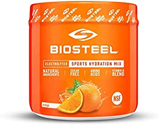 Biosteel High Performance Sports Drink Powder, Naturally Sweetened with Stevia, Orange, 140 Gram