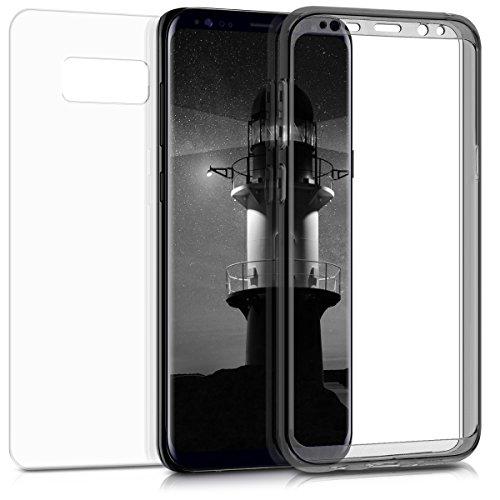 kwmobile Hülle kompatibel mit Samsung Galaxy S8 Plus - Acryl Handy Case mit Silikon Bumper - Schutzhülle Schwarz Transparent