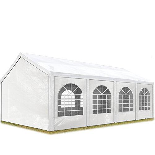 TOOLPORT Hochwertiges Partyzelt 3x9 m Pavillon Zelt 240g/m² PE Plane Gartenzelt Festzelt Wasserdicht weiß