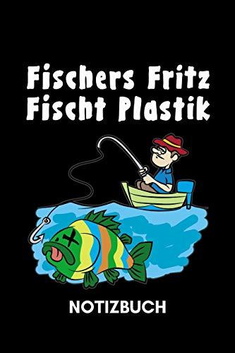 Notizbuch - Fischers Fritz fischt Plastik: 120 Seiten liniert