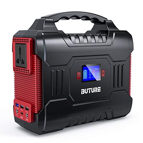 BuTure 300W Tragbare Power Station(350W Spitzenstrom),266Wh/72000mAh Solar Outdoor Generator, 60W PD Power Bank mit AC & DC Anschlüsse,für CPAP-Batterie-Netzteil für Camping.