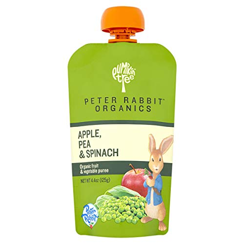 Product Image of the Peter Rabbit Organics, Pea, Spinach and Apple Puree, 4.4-Ounce Pouches (Pack of...