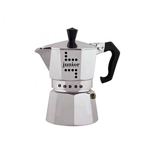 Bialetti Junior Espressokanne, Aluminium, Silber, 1 Tasse