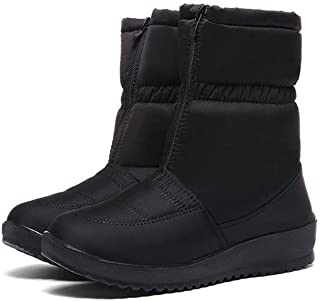 Snow Boots Waterproof Non-Slip Flat Bottom Winter Shoes Warm Cotton Shoes