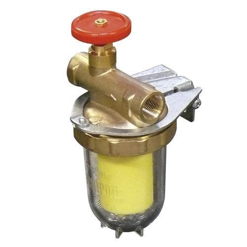 Heizölfilter, Einstrang m. Absperrung, bds IG 3/8, Siku-Filter-Einsatz