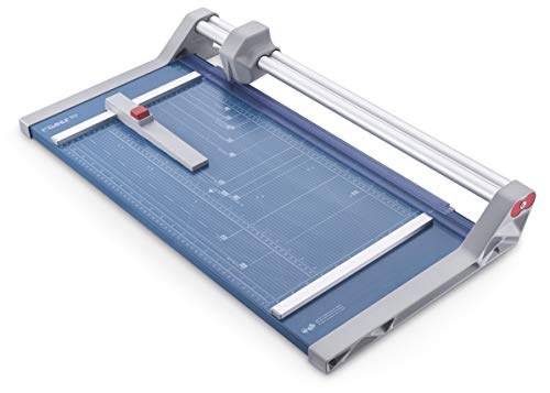 Dahle 552 Professional Rotary Trimmer, 20' Cut Length, 20 Sheet Capacity, Self-Sharpening, Dual Guide Bar, Automatic Clamp, German Engineered Paper...