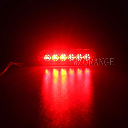Generic MZORANGE 12V-24V 19 Patterns Led Strobe Warning Light Strobe Grille Flashing Lightbar Truck Car Beacon Lamp Amber Traffic light Emitting Color Red Color Temperature 8 Pieces