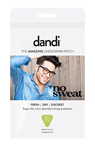 dandi® Patch Deodorant Alternative Anti Sweat Pads, Pack of 10 for Men.