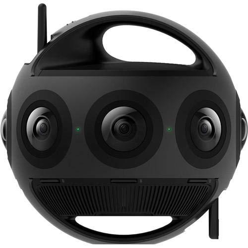 Insta360 Titan - Professionelle 360 ° VR-Videokamera für Sphären-Panoramen, 8 Micro-Four-Thirds-Sensoren, 11K-HDR-Foto-/Videoauflösung (30 Bilder/Sekunde), 10-Bit-Farbtiefe - Schwarz