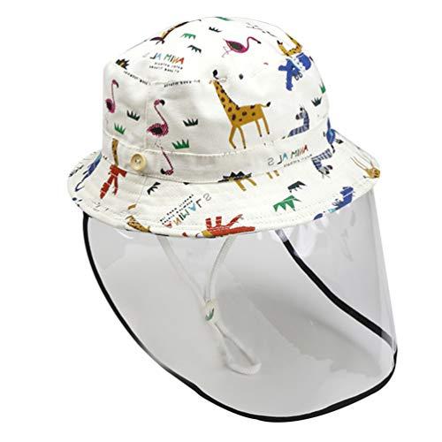 Artibetter Kinder-Sicherheits-Gesichtskappe mit Anti-Beschlag-Beschichtung für Babys, Sonnenblende, für den täglichen Gebrauch im Freien, 46 cm, Baby - Jungen, 47150V43WMDC, Weißer Zoo, 14.6*14.6*12cm