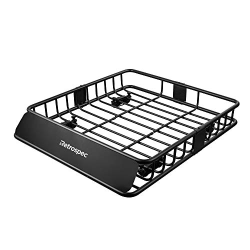 Retrospec Cascade Cargo Roof Rack with 150 lbs capacity, Black, One Size