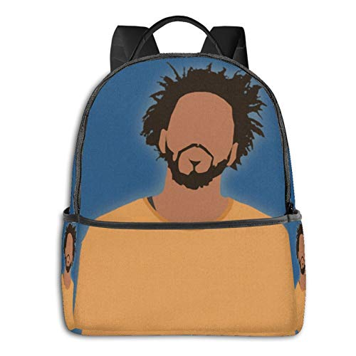 J Cole Cartoon Pullover Hoodie Student School Bag School Cycling Leisure Travel Camping Outdoor Backpack