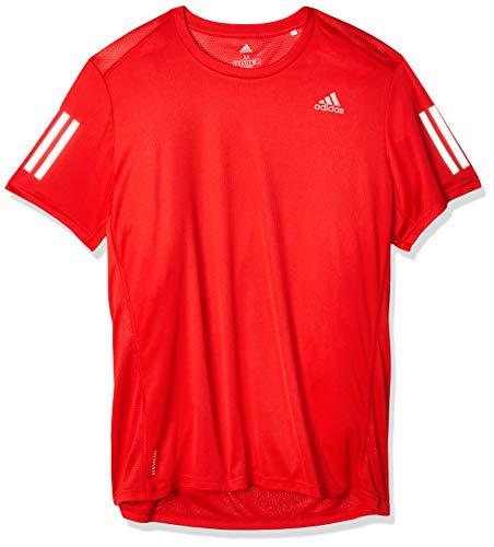 adidas Own The Run tee Camiseta de Manga Corta, Hombre, Scarlet, M