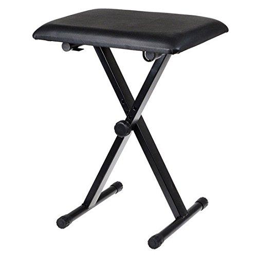 JJOnlineStore - hochwertiger Klapphocker mit verstellbarer Höhe, X-Gestell, Tastaturhocker, Orgel, Klavier, Hocker für Musikinstrument, Farbe schwarz