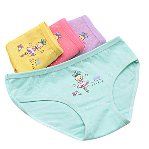 Senoow sous-vêtements pour Enfants Cartoon Girl Dance Cotton Triangle Underwear Baby Girls Culotte