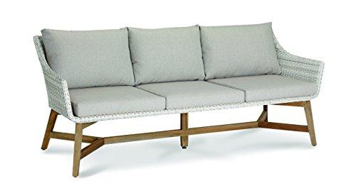 BEST Lounge-Couch Paterna 3-Sitzer, teakholz/alabaster, 88 x 196 x 82 cm, 41392504