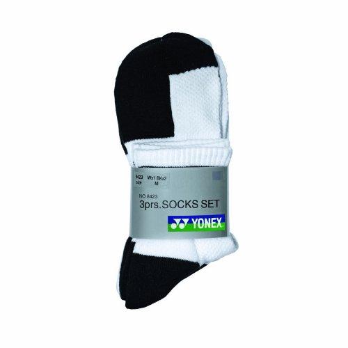 Yonex W-8423 - Conjunto de calcetines (3 pares) Talla:mediano