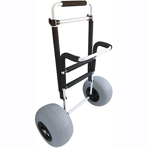 Dljyy plegable aleación de aluminio carro de playa, inflable globo rueda pesca remolque, carrito de herramientas telescópica Y30003
