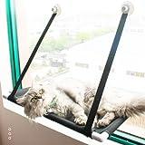 SanZHONGsd Hamaca para gato, ventana de gato, cama para ventana de gato, hamaca para gatos grandes en interiores, baño de sol de 360°, soporta hasta 55 libras, ahorro de espacio y fácil de montar