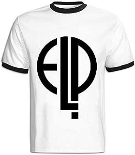 CHALZ Men's Emerson Lake & Palmer Band Logo 100% Cotton Tshirts