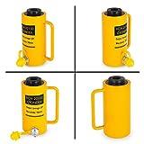 Mophorn 20T 100MM Cilindro Hidráulico Hueco de Simple Efecto Gato Hidráulico Pistón Hydraulic Bottle Jack Hydraulic Cylinder (20T100mm)