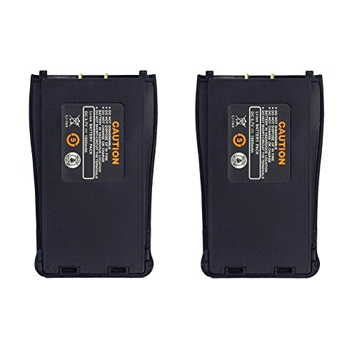 Baofeng Walkie Talkie Battery Replacement 1500mAh Rechagable Li-on Battery for BF-888S Two Way Radios (2 PCS)