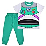 Disney Toy Story Boy's 2-Piece Buzz Lightyear Shirt and Jogger Pant Set, Green/White, Size 4