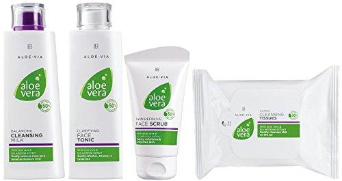 LR ALOE VIA Aloe Vera - Kit de limpieza facial (leche limpiadora,...